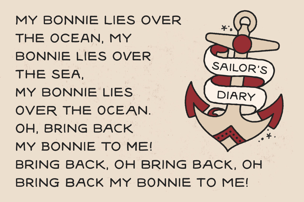 Sailors Diary Sans Tattoo Style Font example image 2