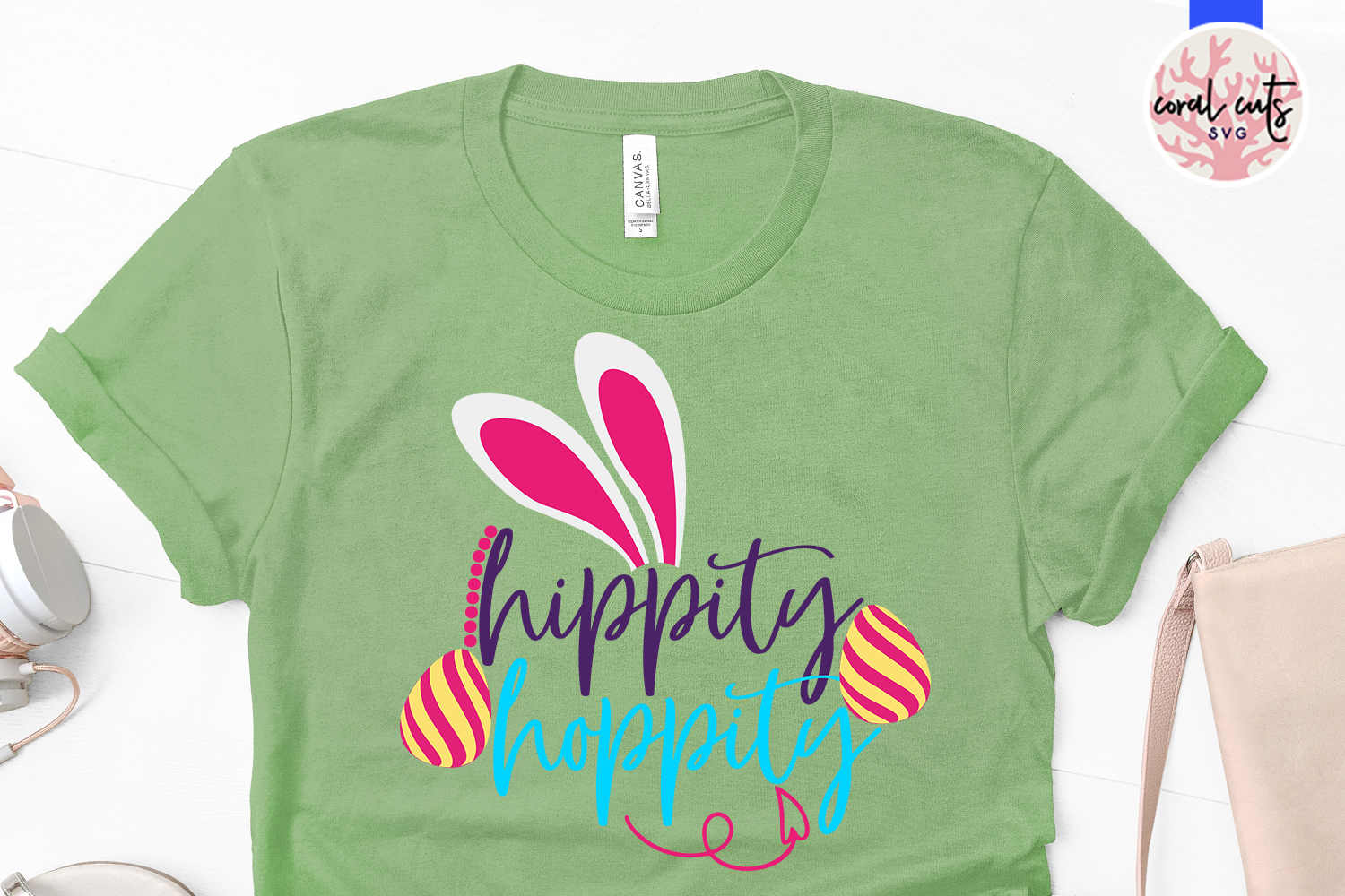 Hippity hoppity - Easter SVG EPS DXF PNG Cutting File example image 2