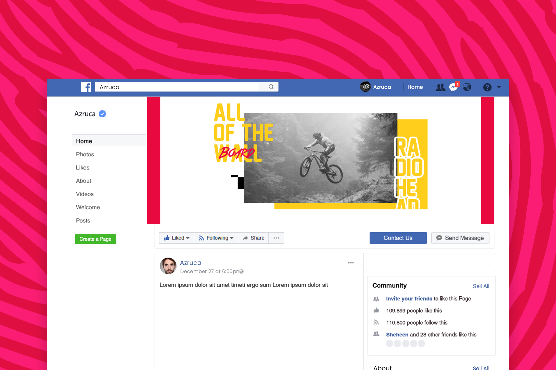 Skate Facebook Cover Templates example image 7