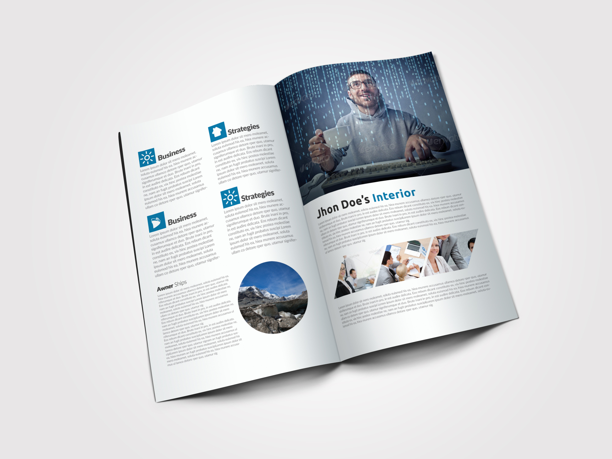 Finance Provider Firm Business Bifold Brochure example image 4