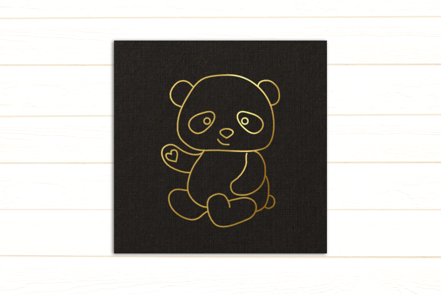 Panda SKETCH Single Line Drawing Pen & Foil Quill SVG example image 2