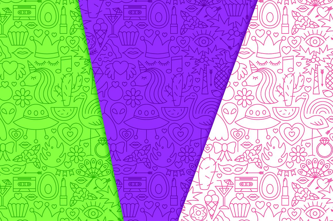 Girl Power Line Tile Patterns example image 4