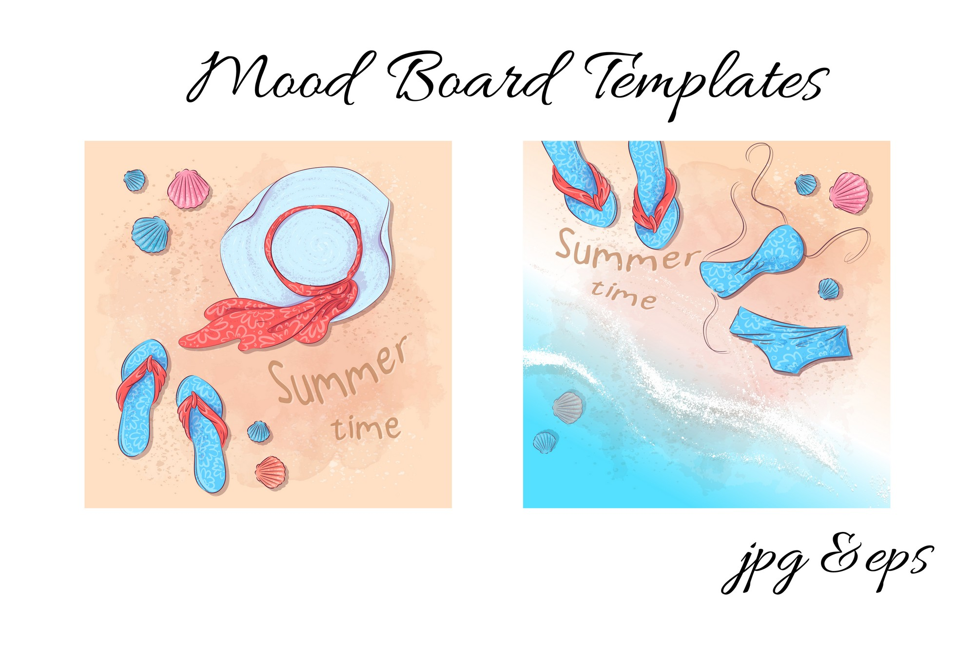 Summer time vector clip art example image 2