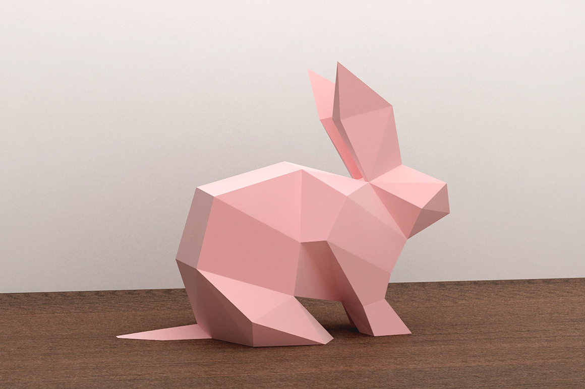 DIY Paper Rabbit - 3d papercraft example image 1