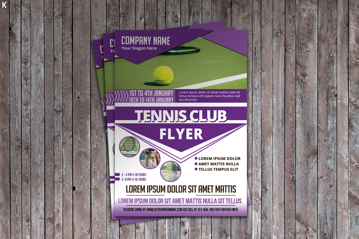 Tennis Flyer Template example image 1