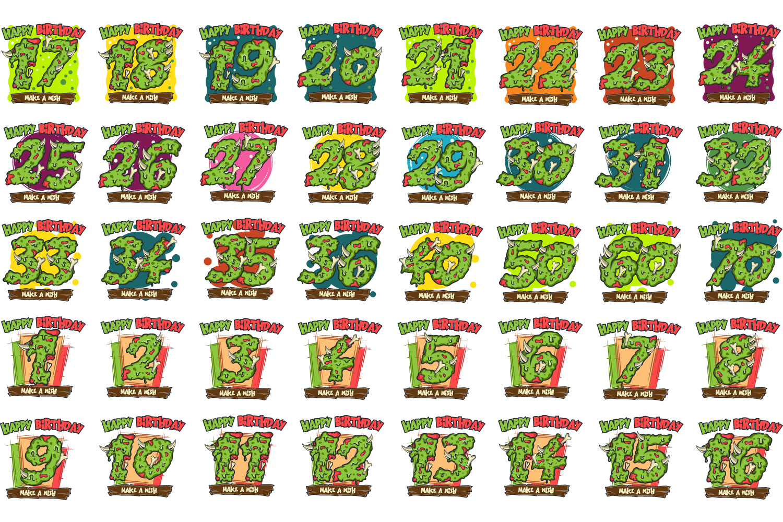 40 birthday stickers example image 3