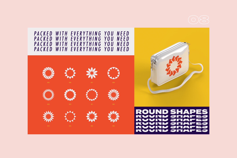 96 Geometric shapes & logo marks VOL.2 example image 23