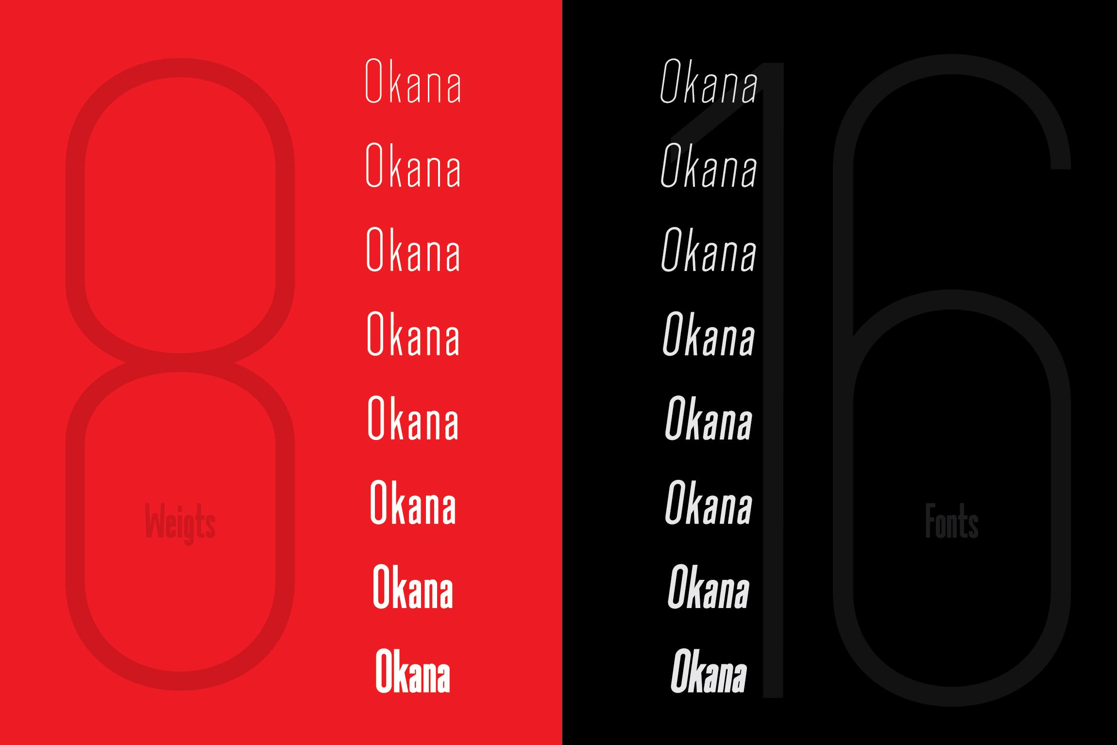 Okana - Sans Serif Font example image 3