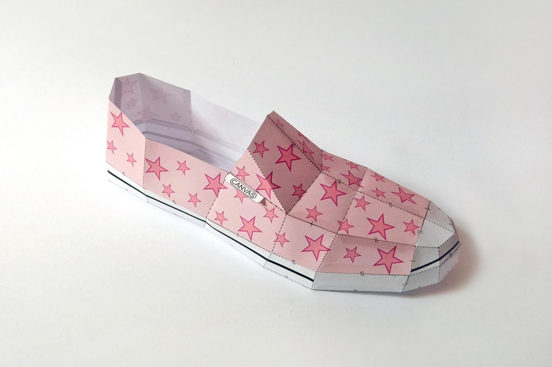 DIY Canvas Shoe - 3d papercrafts example image 3