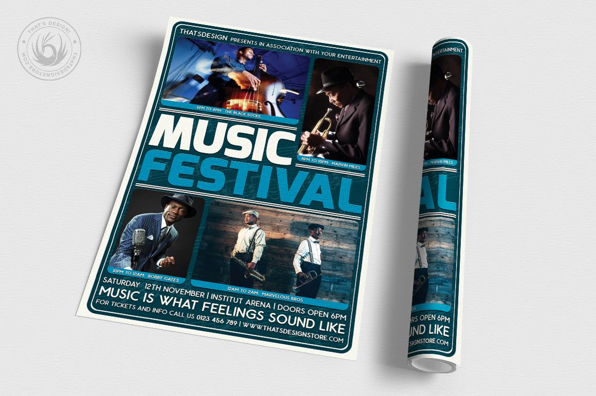 Music Festival Flyer Template V5 example image 3