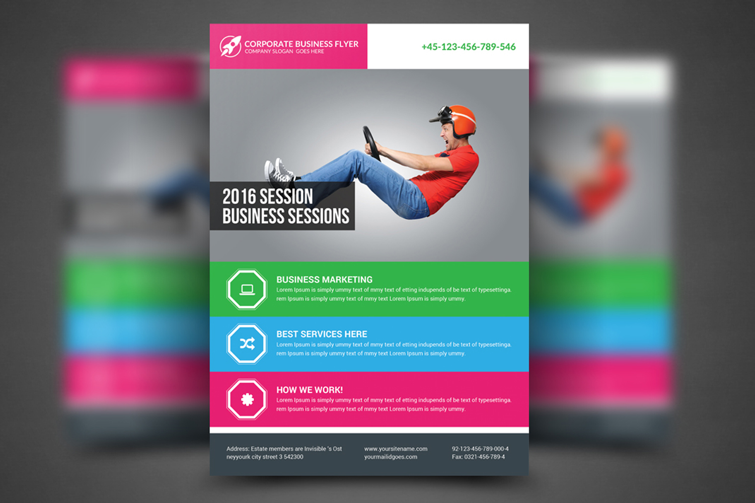 Global Business Agency Psd Flyer example image 1