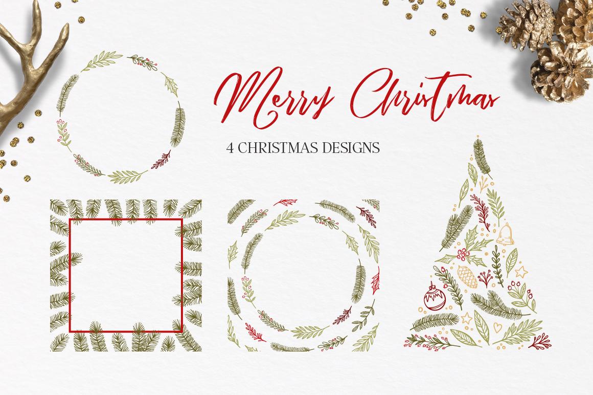 Merry Christmas set example image 4