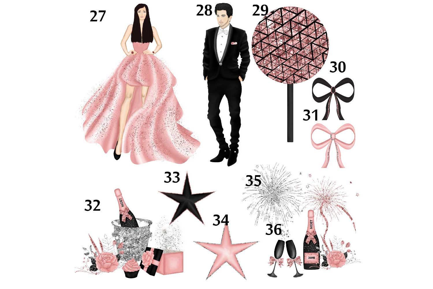 New Years Eve Clipart example image 5