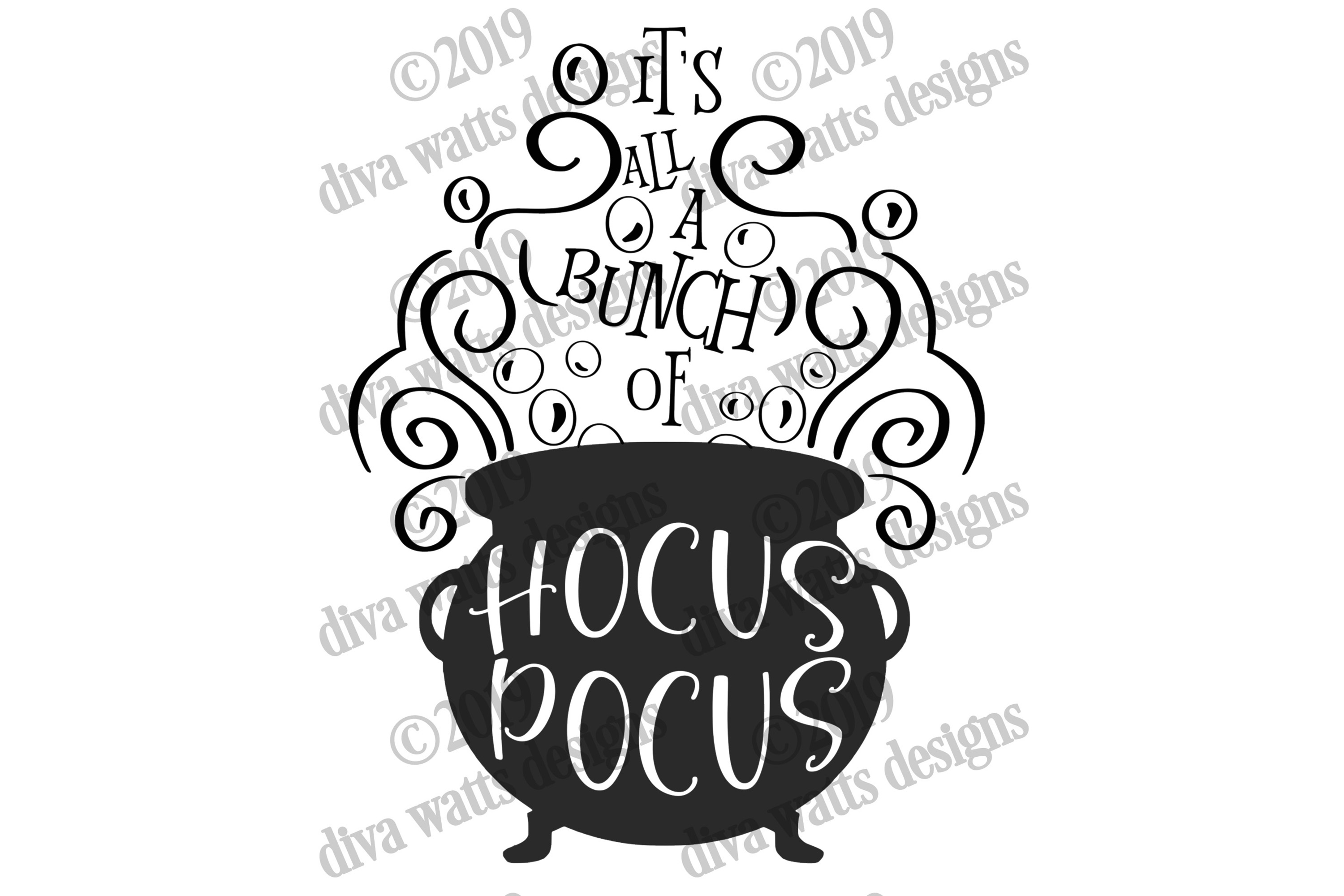 It's All A Bunch Of Hocus Pocus Halloween Cutting File example image 2