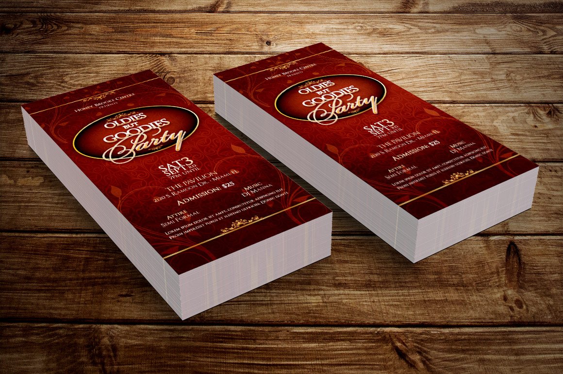 Vintage Party Ticket Template example image 8
