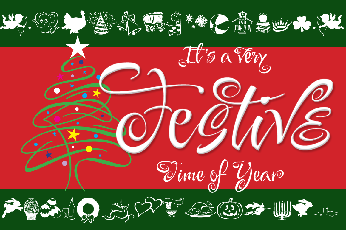 Festive 14 Font Package example image 1