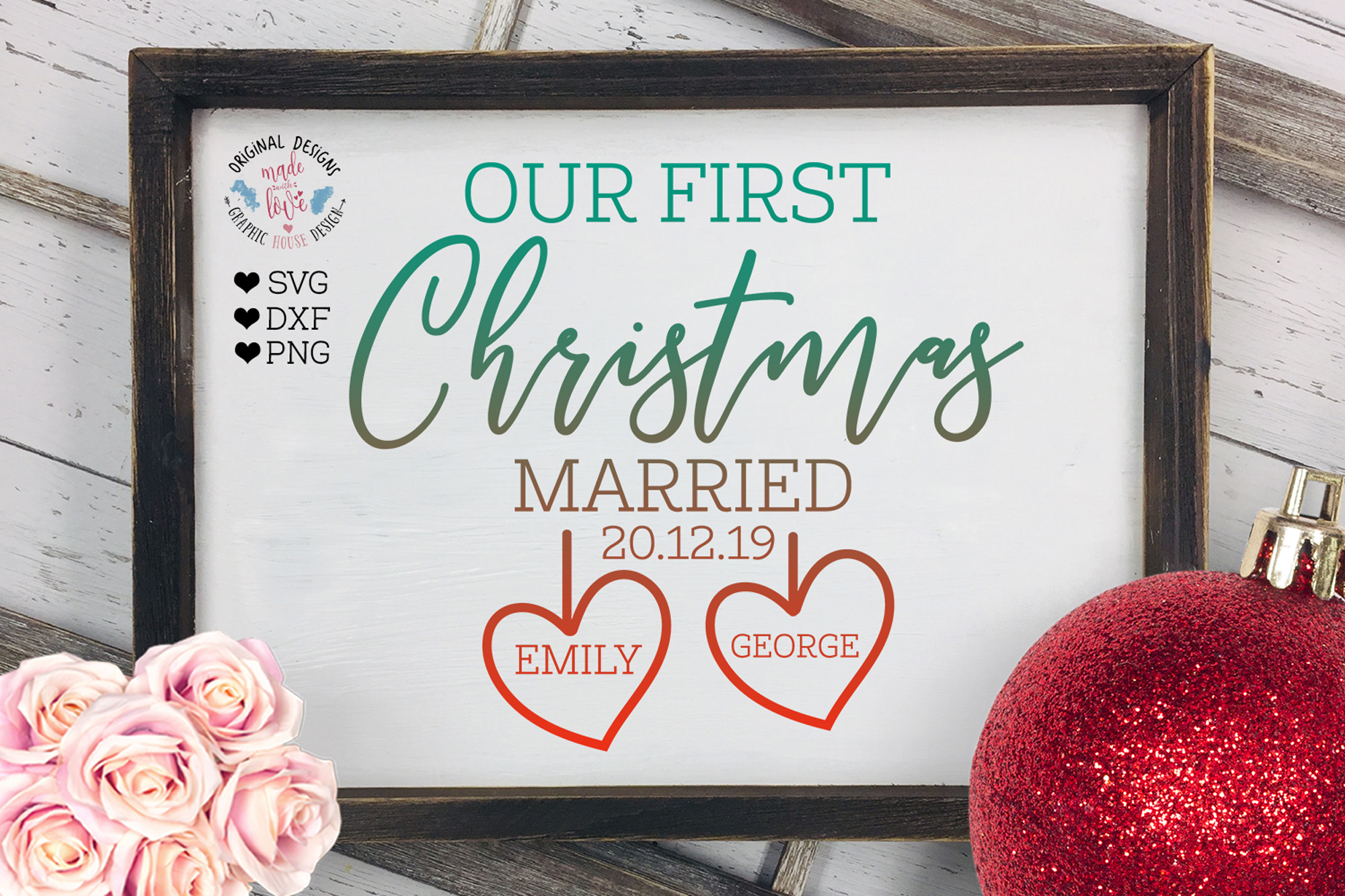 Our First Christmas Married example image 1