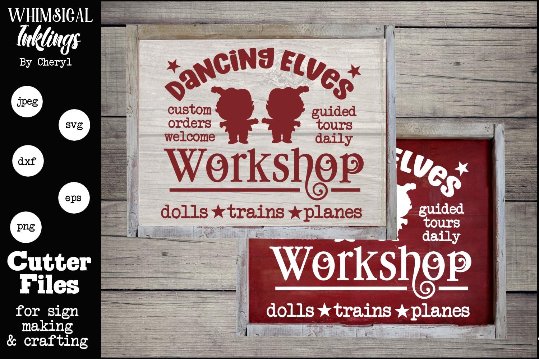 Dancing Elves Workshop-Christmas SVG example image 1