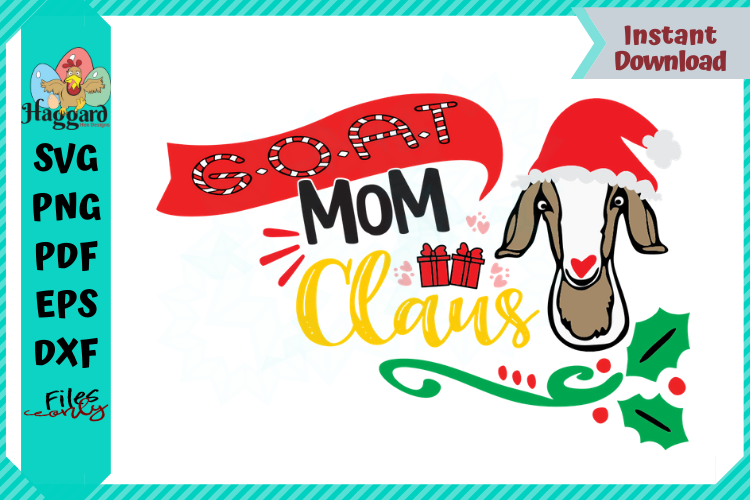 G.O.A.T Mom Claus example image 1