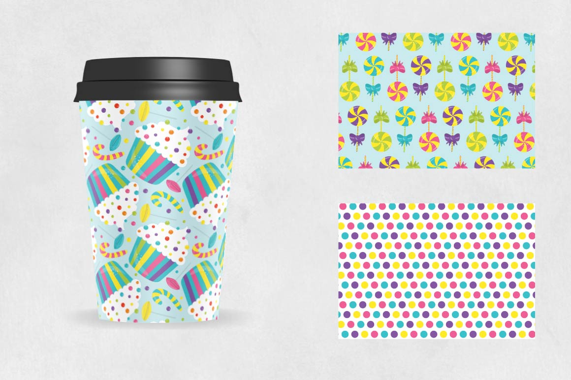 CANDY, digital papers example image 2