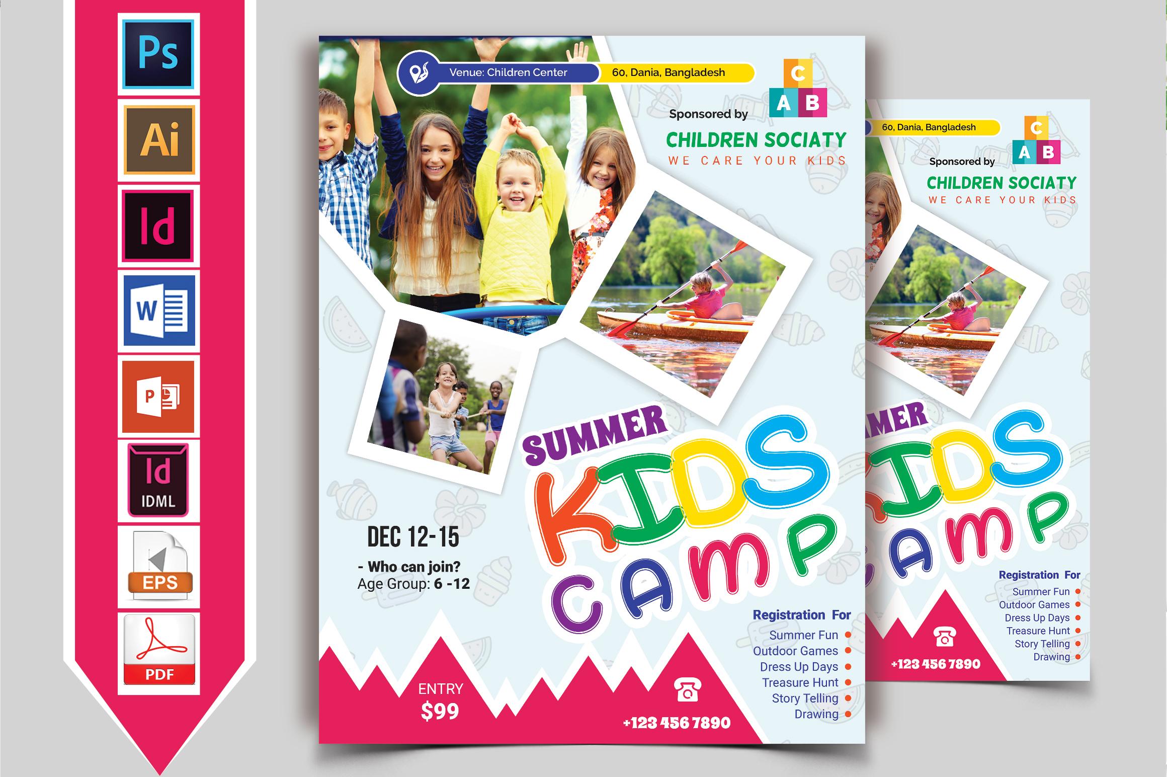 Kids Summer Camp Flyer Vol-05 example image 2