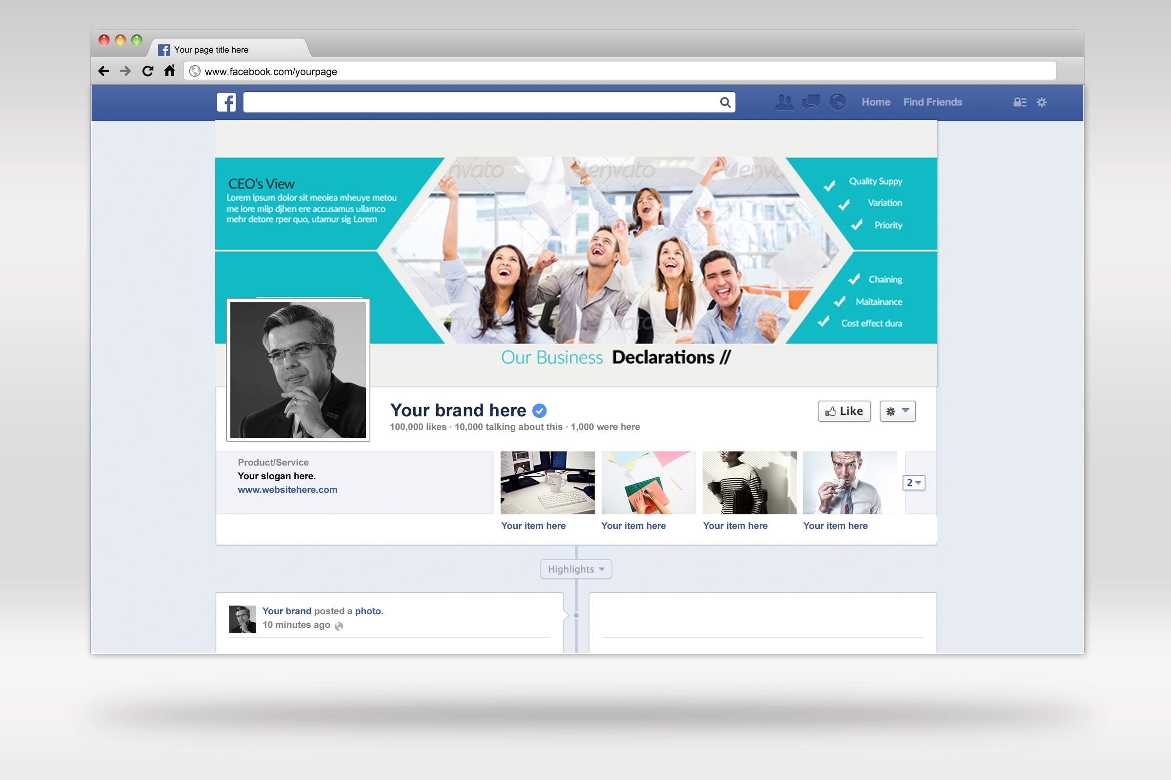 Business Facebook Timeline Cover example image 3