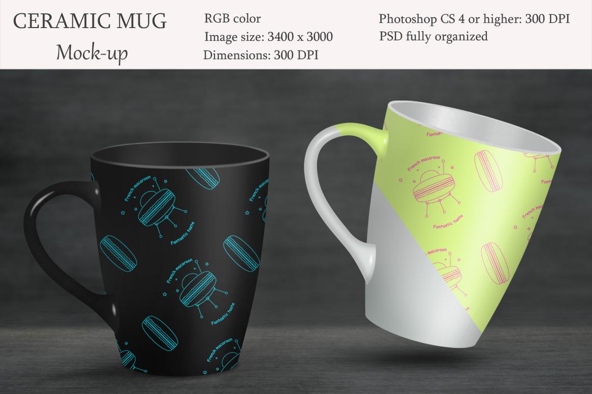 Ceramic mug mockup. Product mockup. example image 1