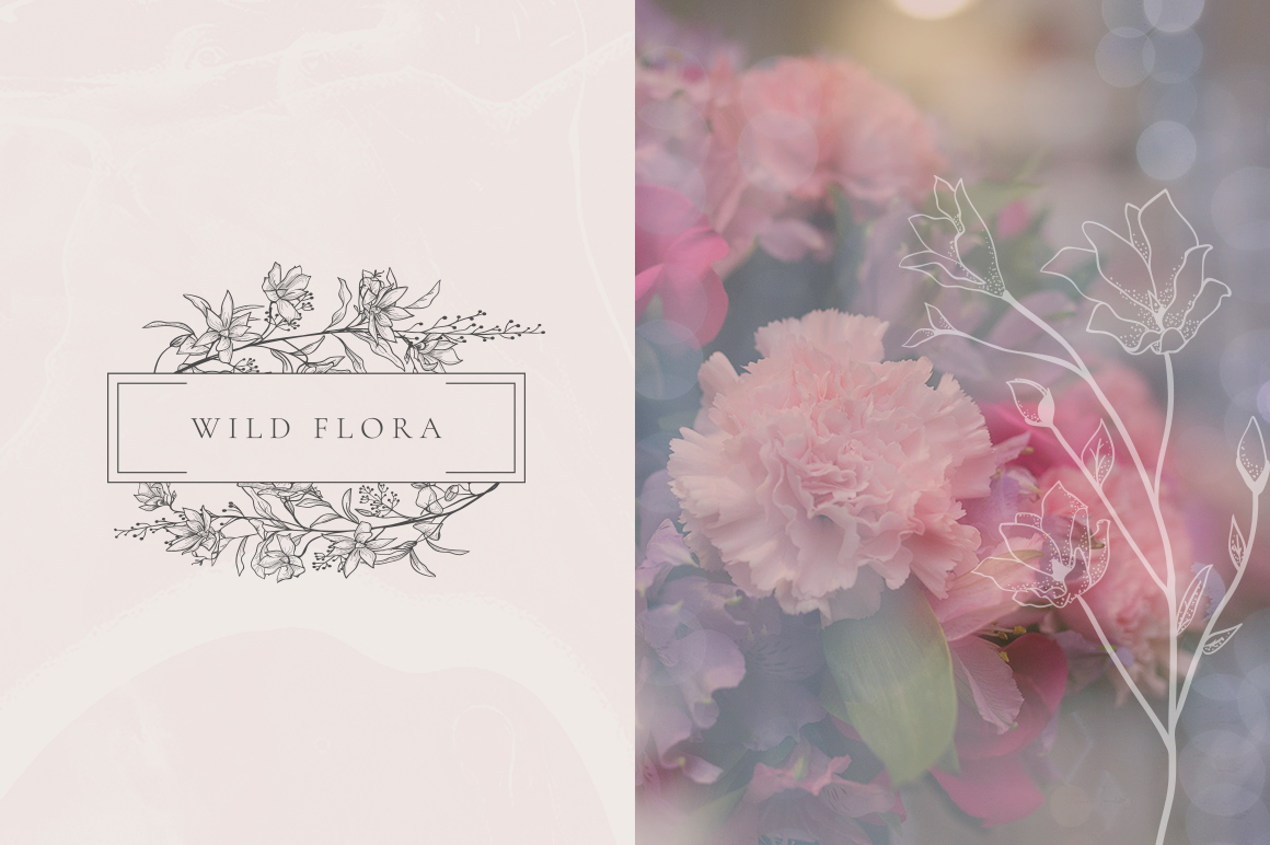 Flowered Monogram & Logo Collection example image 7