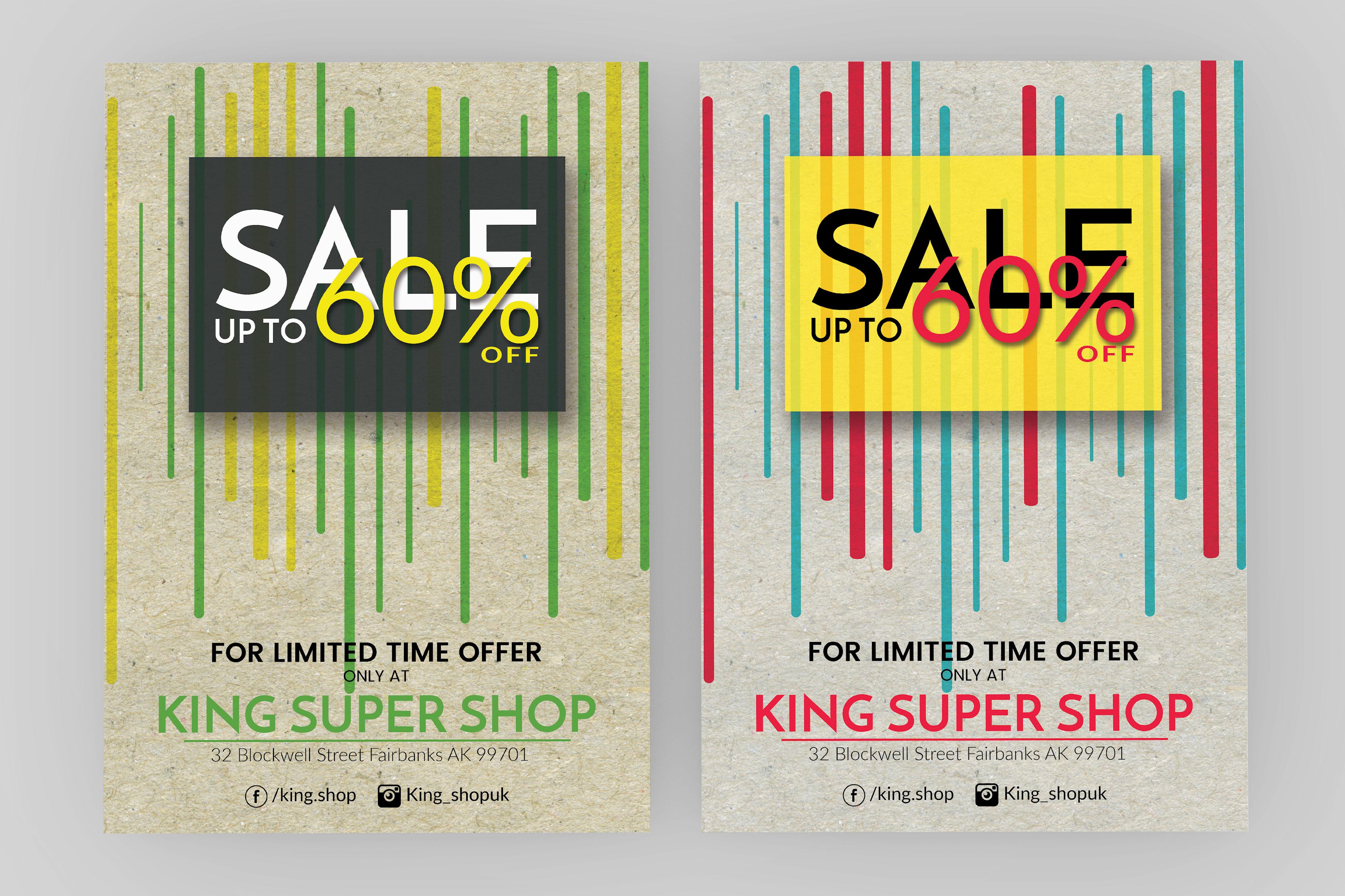 Shop Sale Flyer Design example image 4