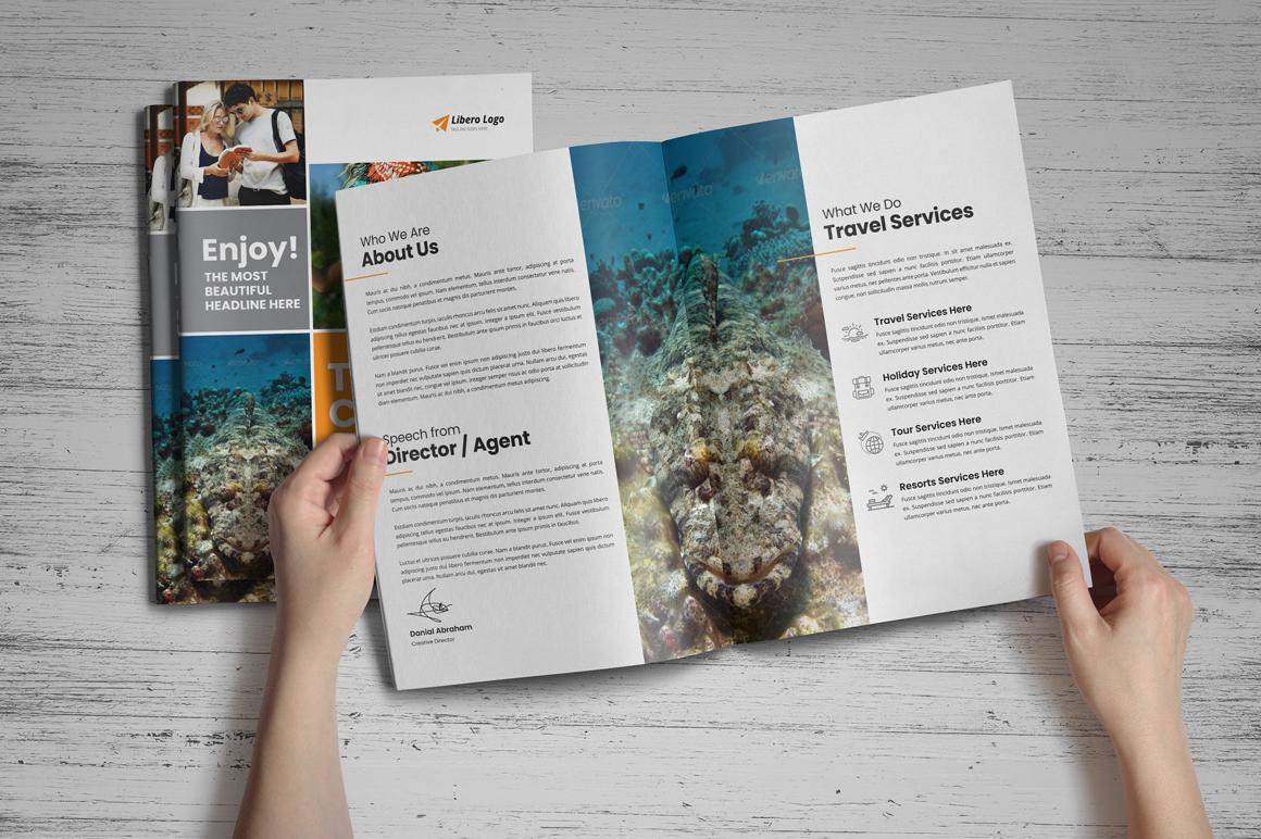 Holiday Travel Brochure Design v5 example image 2