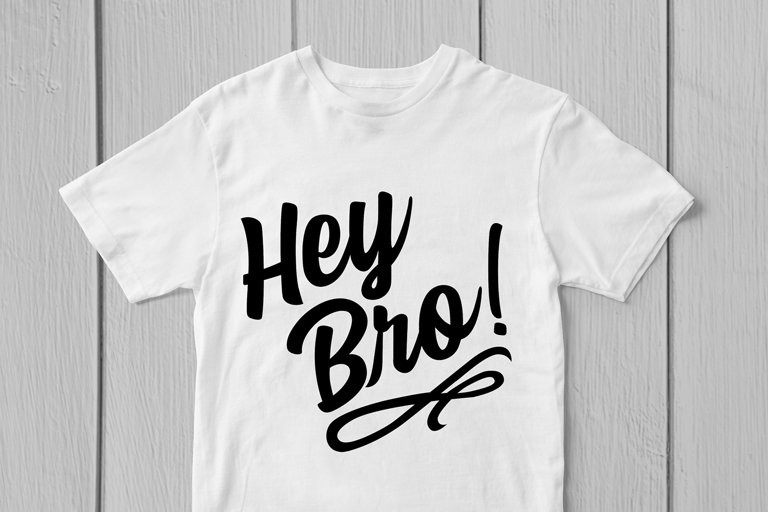 Hey Bro - Quote SVG EPS DXF PNG Cutting Files example image 2