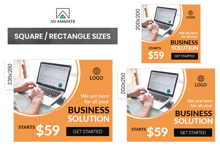 Business Banner Animated Ad Template - BU003 example image 2