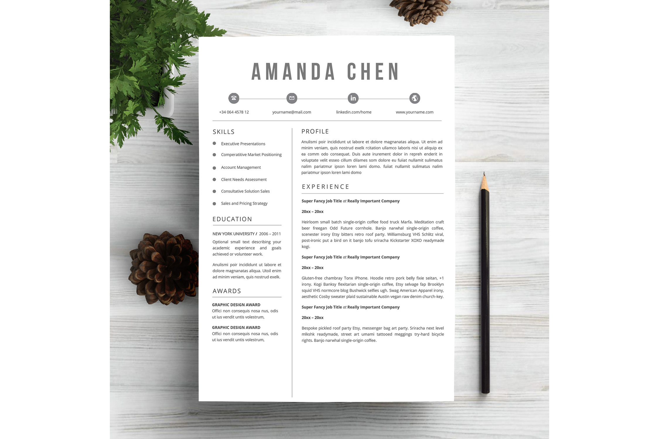 Feminim Resume Template example image 5