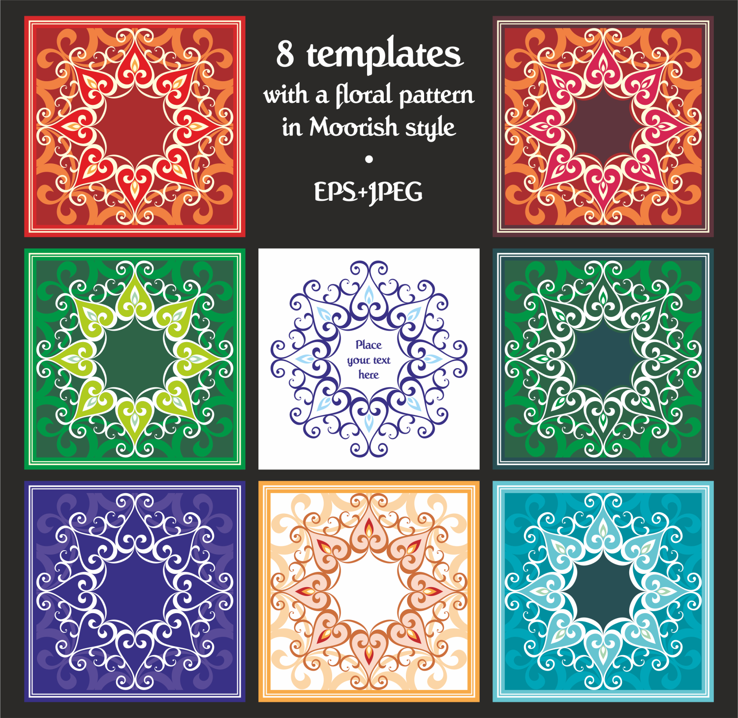 Ramadan. Templates set. example image 3