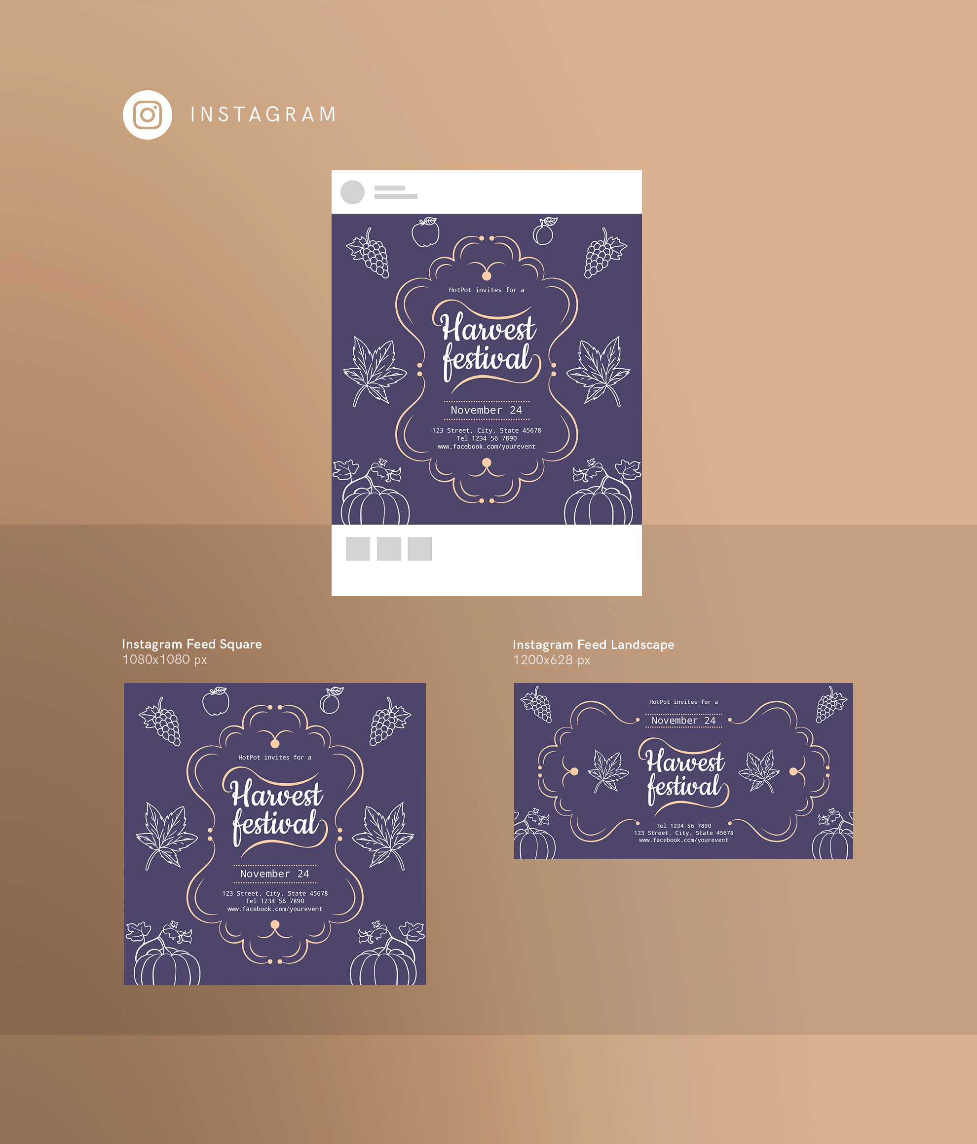 Harvest Festival Design Templates Bundle example image 15