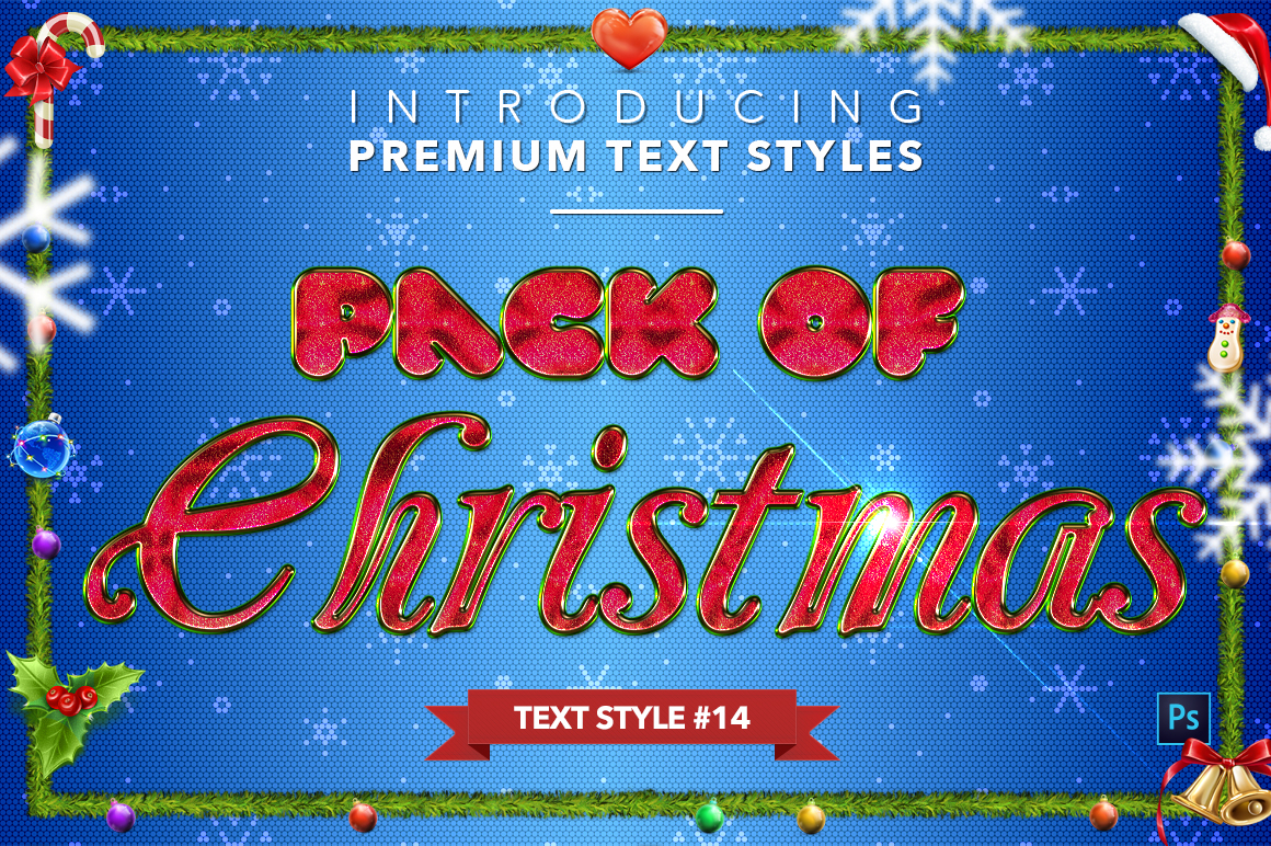 Christmas Pack #2 - 20 Text Styles example image 15