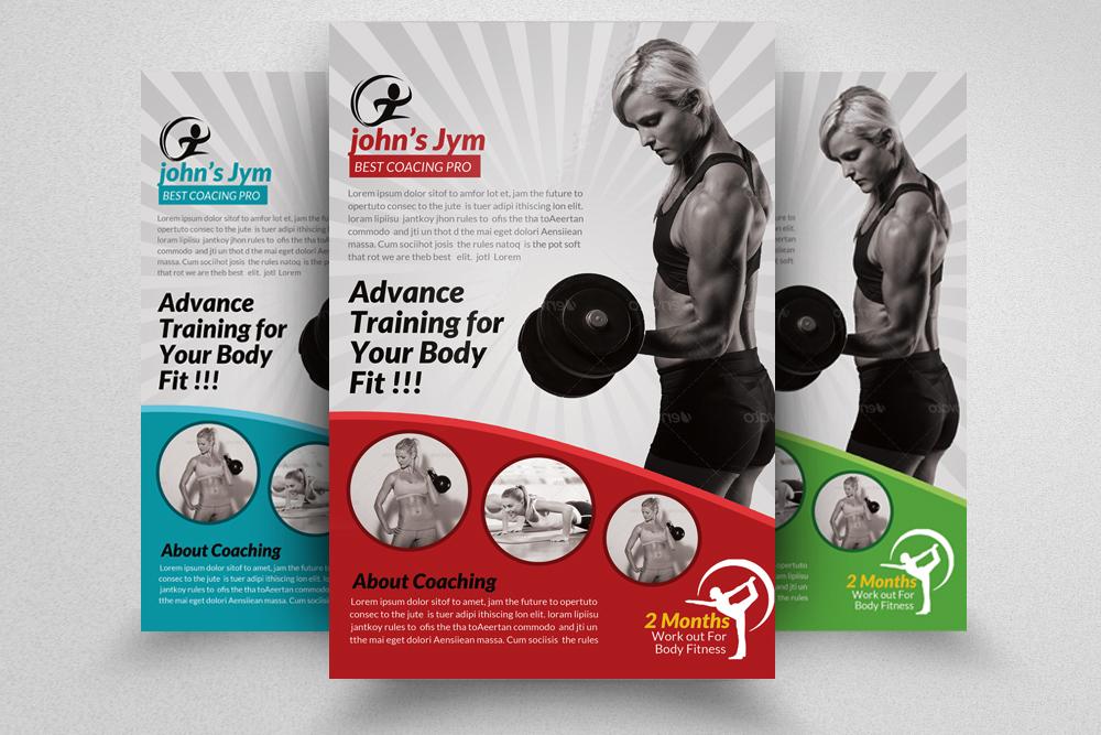6 Body Fitness Gym Flyers Bundle example image 3
