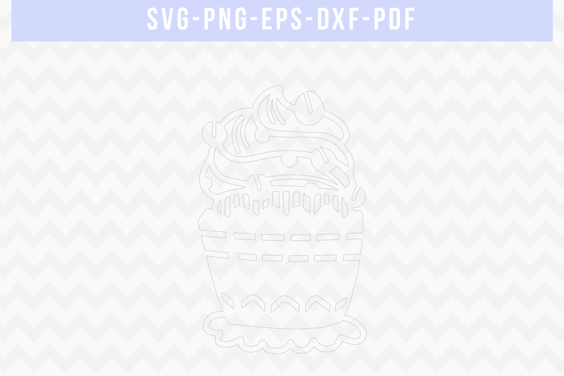 Coffee Cupcake Papercut Template, Birthday Cut File SVG, DXF example image 2