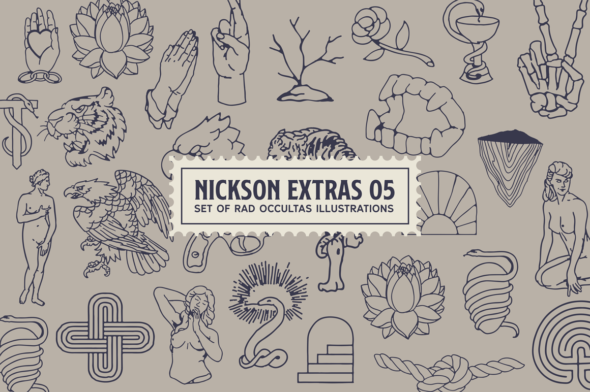 S&S Nickson Font Bundles  example image 11
