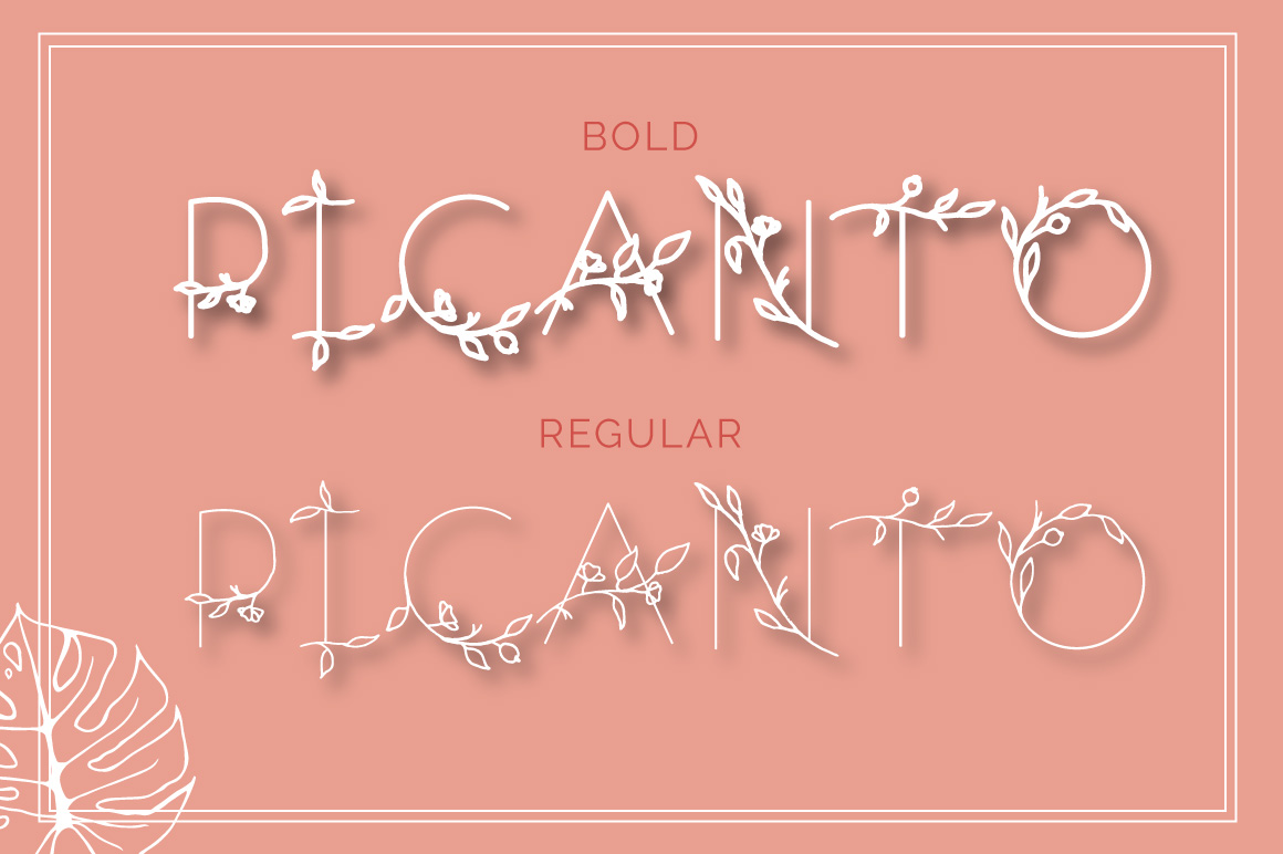 PICANTO - FLORAL FONT example image 6