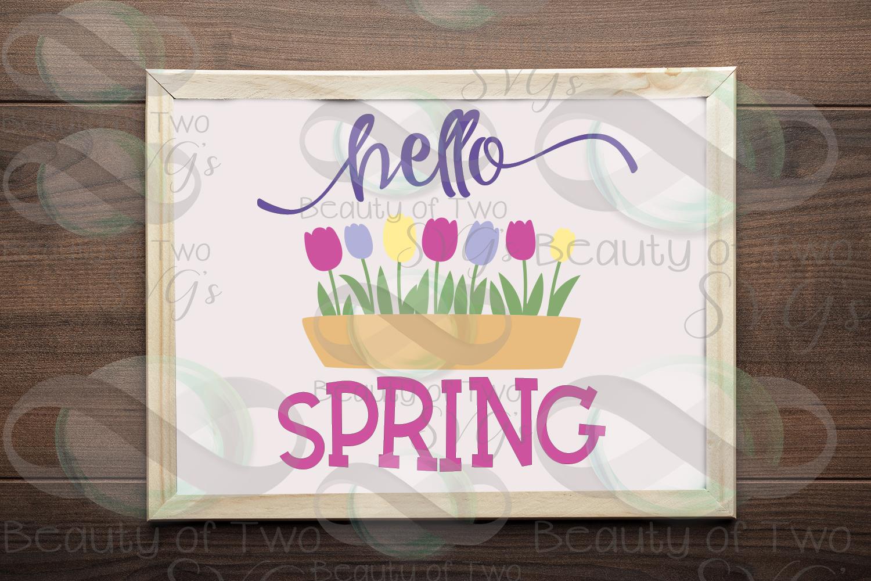 Hello Spring SVG Digital Svg Sign Bundle, 6 Spring Designs example image 6