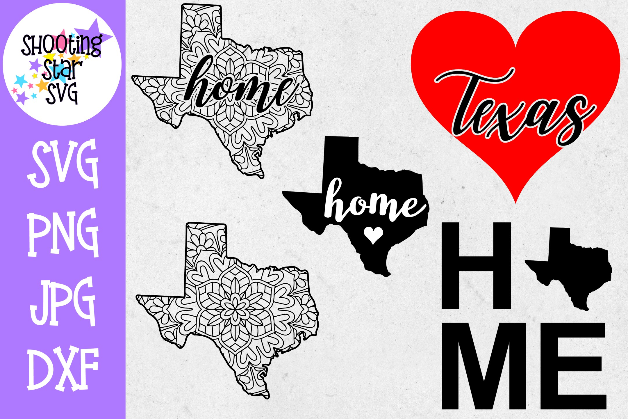 Texas US State SVG Decal Bundle - 50 States SVG example image 1
