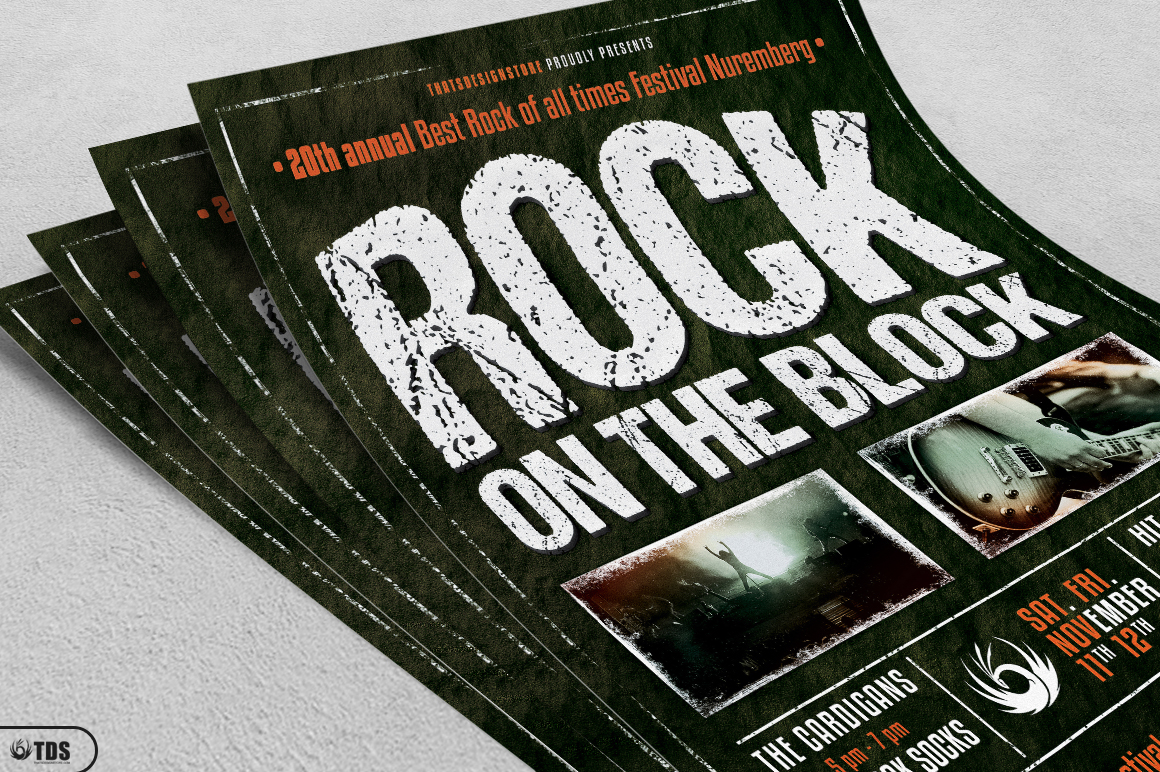 Rock Festival Flyer Template V1 example image 3