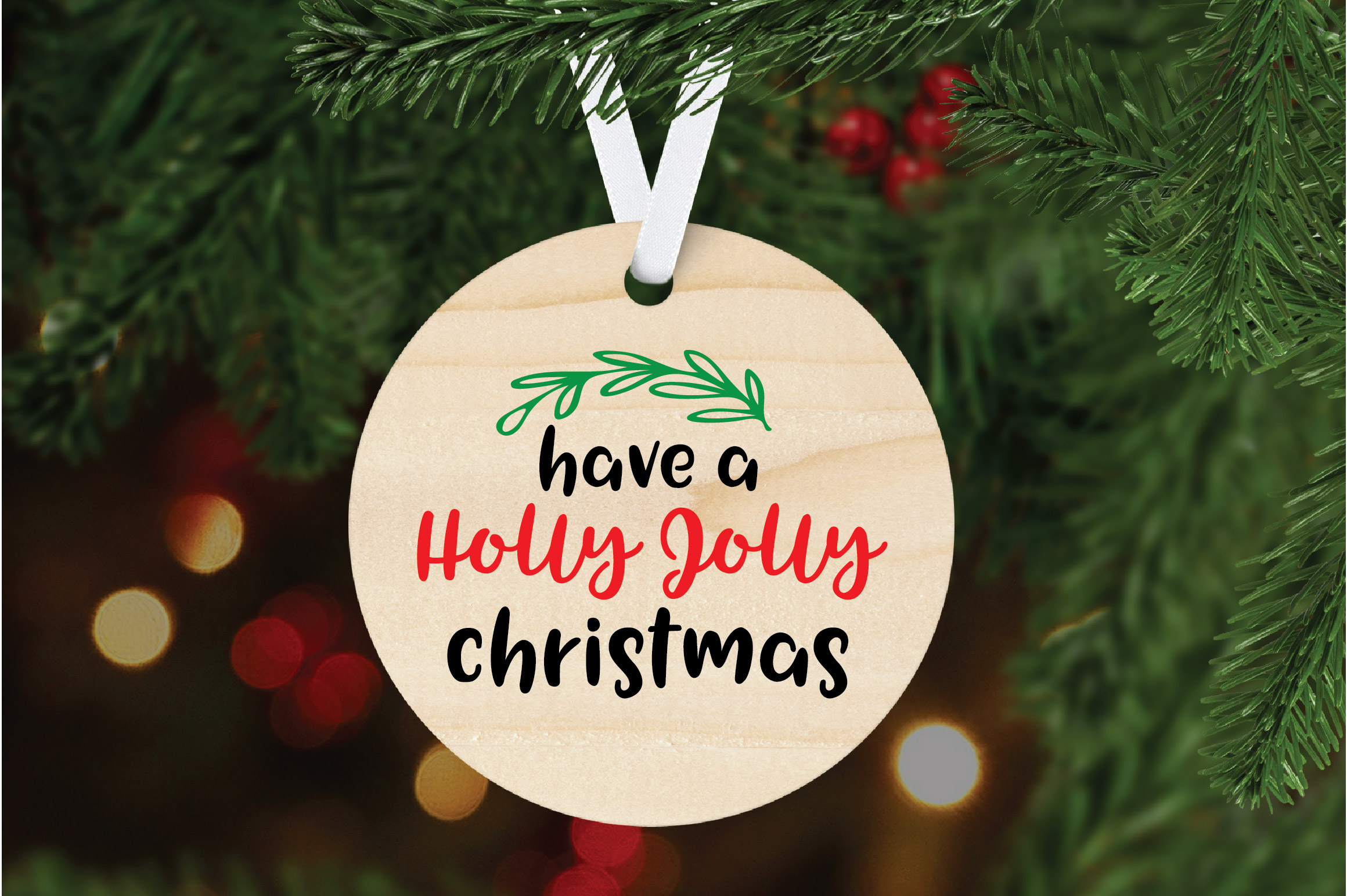 Have a Holly Jolly Christmas - Christmas SVG Cut File - DXF