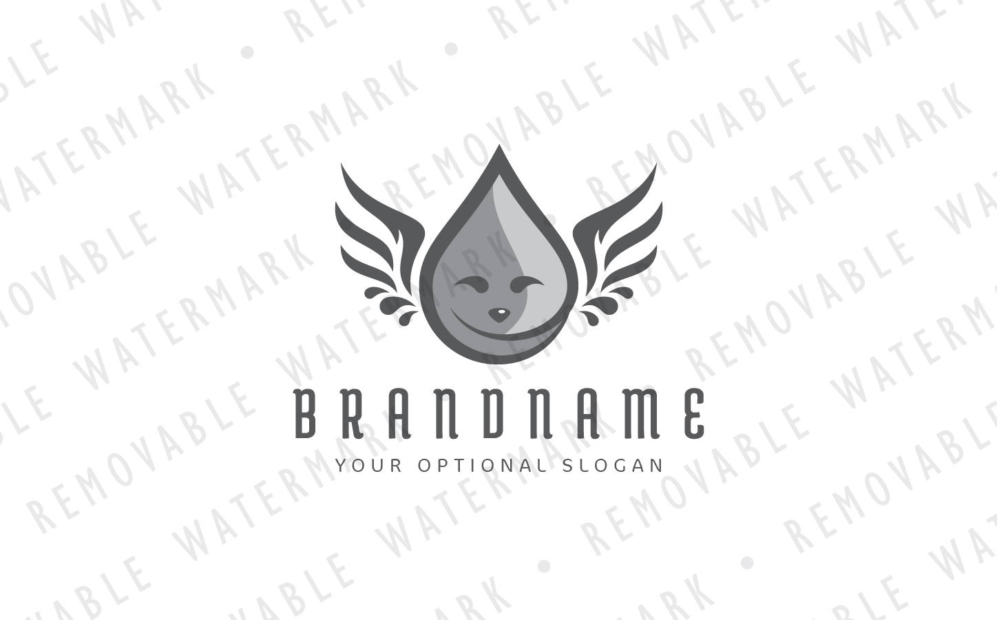 Droplet Angel Logo example image 4