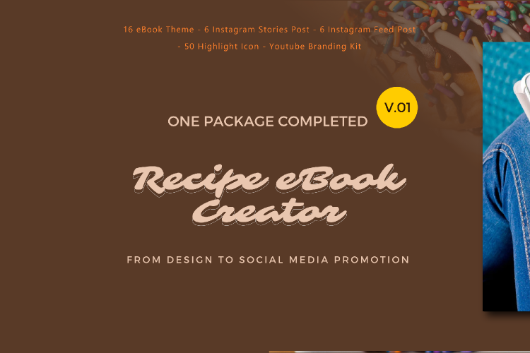 Recipe eBook Creator with Instagram and Youtube Kit example image 1