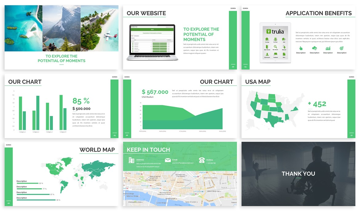 Doren - Photography Powerpoint Template example image 4