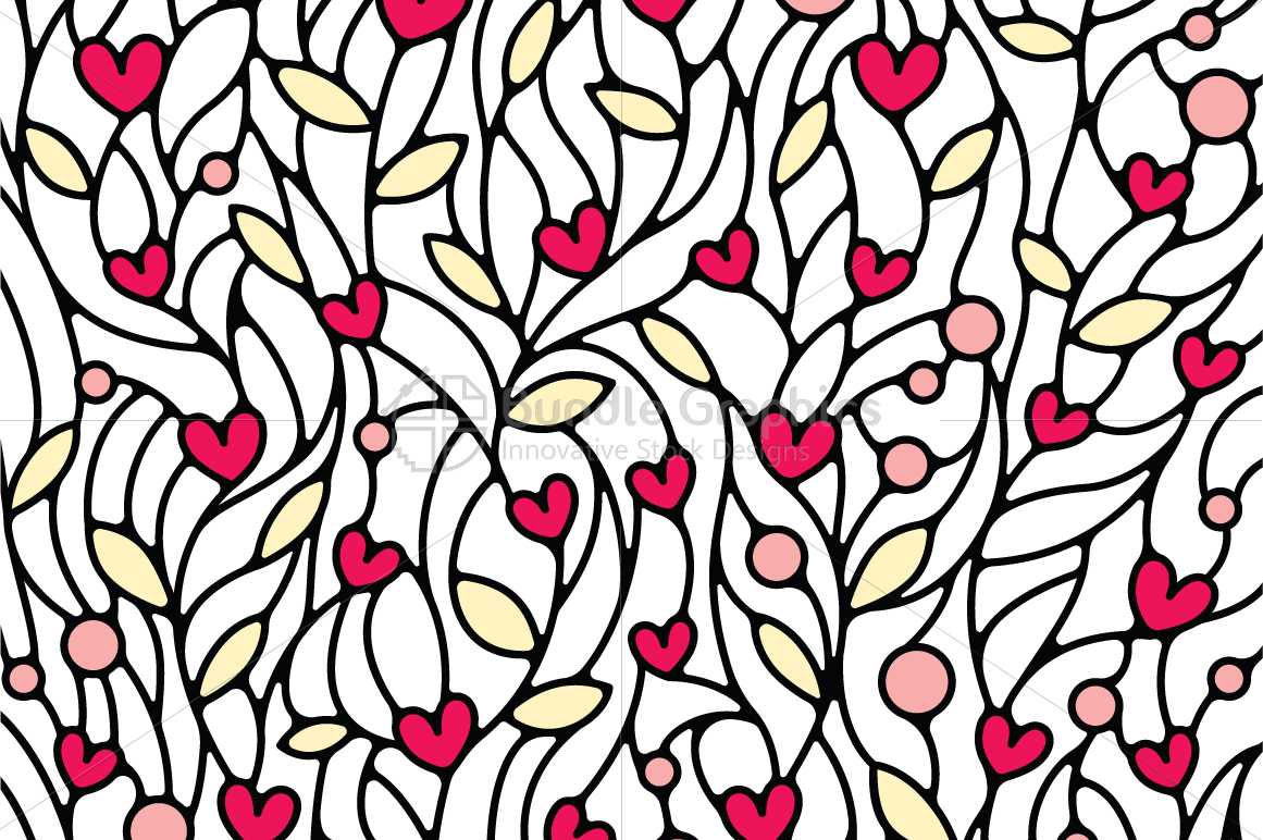 Nature and Heart Colorful Vector Background example image 1