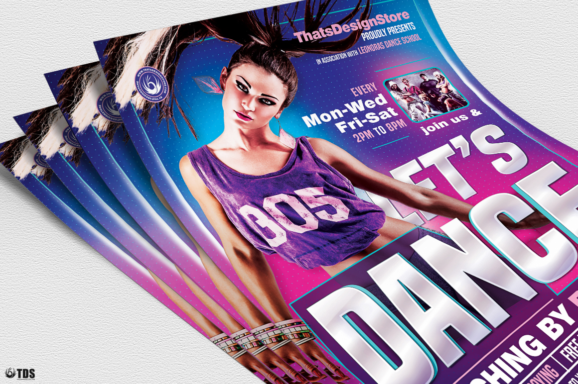 Dance Classes Flyer Template V1 example image 5