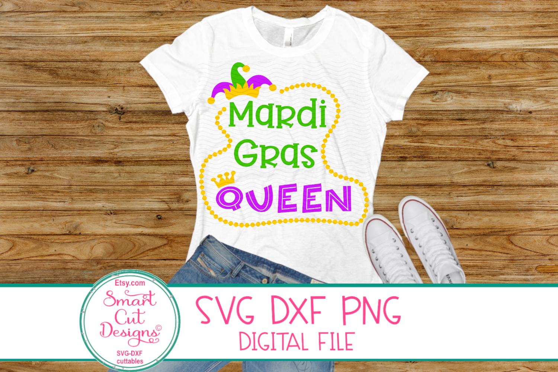 Mardi GrasQueen SVG, Jester Crown SVG, Mardi Gras SVG, DXF example image 1